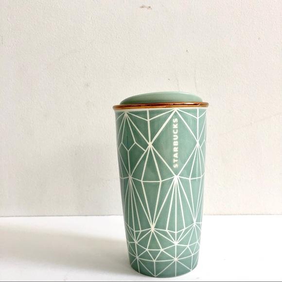 Starbucks 2017 Geometric Caledon Travel Tumbler
